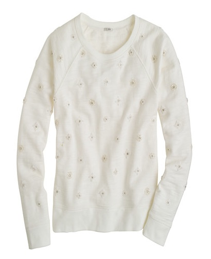 jcrew jeweled sweatshirt