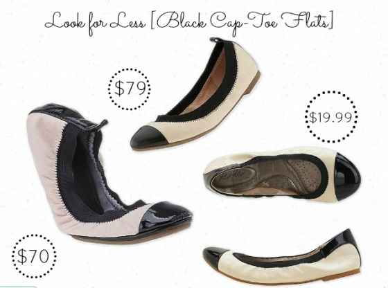 Look For Less Cap Toe Flats