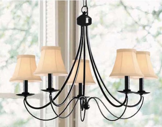 overstock iron 5 light chandelier